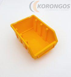 Ajándék Csavartartó doboz 110x175x 75mm sárga