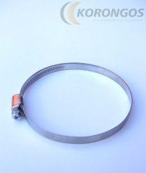 Csőbilincs 80-100/9mm rozsdamentes pánttal