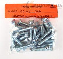 Hatlapfejű csavar M 6X30 30db-os kiszerelésben
