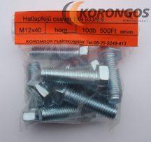 Hatlapfejű tövigmenetes csavar M12x40 horganyzott 8.8 min., 10db-os kiszerelésben