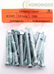 Hatlapfejű csavar M  8X60 15db-os csomagban