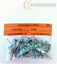 Önfúró lemezcsavar 4,2x16mm  50db-os csomagban